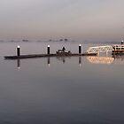 Ocean Grove Boat Ramp in fog. by John Sharp