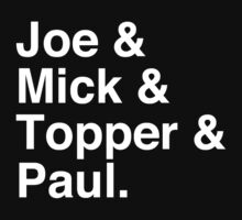 Joe & Mick & Topper & Paul Clash T-Shirt by tcn33