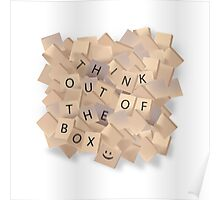 Scrabble - Think out of the box. Poster
