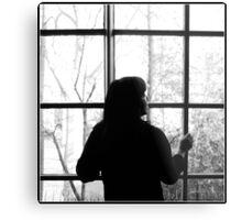 Looking through the window Metal Print