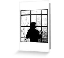 Looking through the window Greeting Card