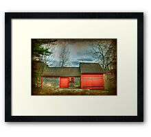 New England Grist Mill Framed Print