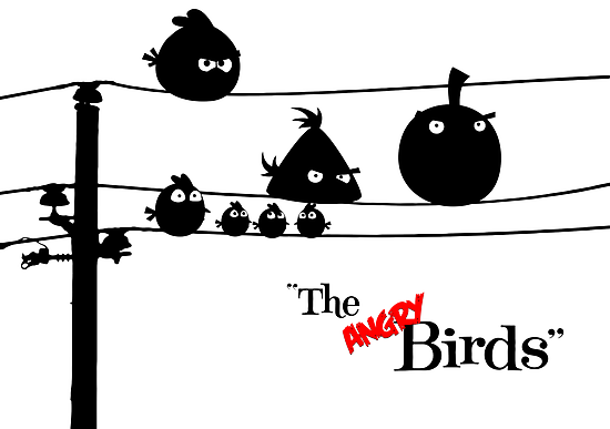 Hitchcock´s The angry Birds by dutyfreak