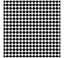 Black and White Dot Pattern Photographic Print