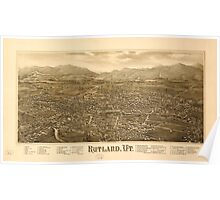 Panoramic Maps Rutland Vt Poster
