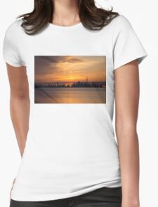 First Sun Rays - Toronto Skyline at Sunrise Womens Fitted T-Shirt