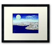 MALTA GRAND HARBOUR Framed Print