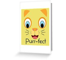 Purr-fect Cat Greeting Card