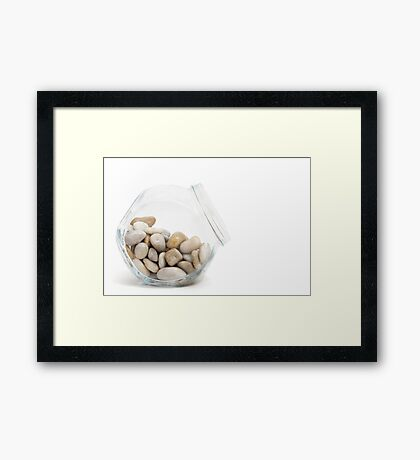 Pebbles in a Jar Framed Print