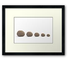 Five Pebbles Framed Print