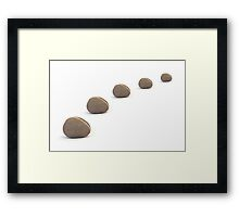 Five Pebbles in an Orderly Queue Framed Print
