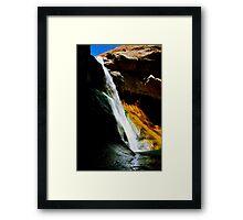 Lower Calf Creek Falls, UT Framed Print