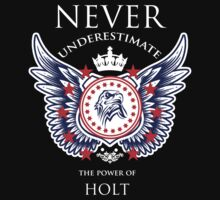 Never Underestimate The Power Of Holt - Tshirts & Accessories by custom333