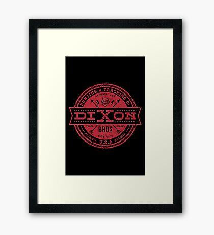 Dixon Bros. - Red Version Framed Print