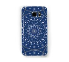 Blue White Mandalas Samsung Galaxy Case/Skin