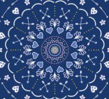Blue White Mandalas Sticker