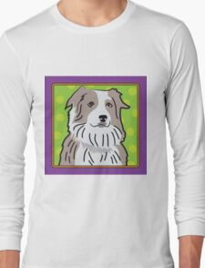Australian Shepherd Cartoon Long Sleeve T-Shirt