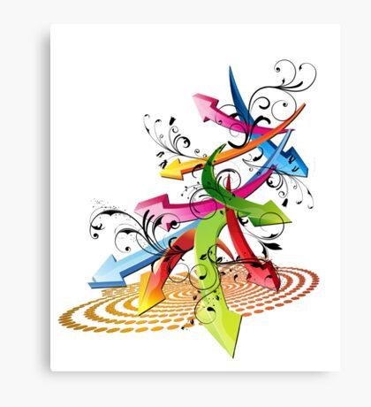 Color Arrows Canvas Print