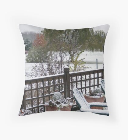 Early Ohio Winter Throw Pillow