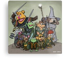 Fellowship of the Muppets Metal Print