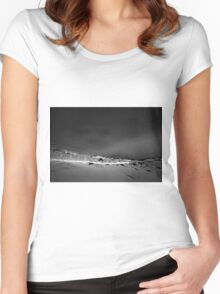 Snowy Mountains Women's Fitted Scoop T-Shirt