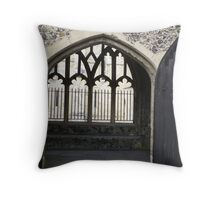 The old abbey Throw Pillow