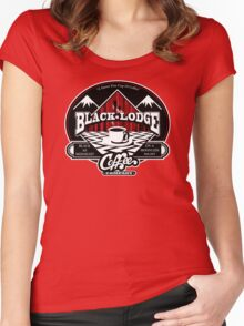 Black Lodge Coffee Company (clean) Women's Fitted Scoop T-Shirt