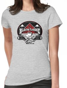 Black Lodge Coffee Company (clean) Womens Fitted T-Shirt
