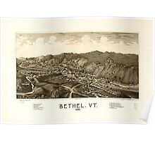 Panoramic Maps Bethel Vt 1886 Poster