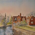Spring along the Stour-Canterbury by Beatrice Cloake Pasquier