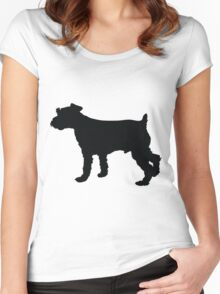 Schnauzer Silhouette Women's Fitted Scoop T-Shirt
