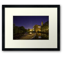 Saltaire at River Aire Framed Print