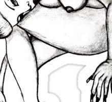Miss Mosh sketch  Sticker