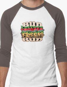 Cheesy Burger Men's Baseball ¾ T-Shirt