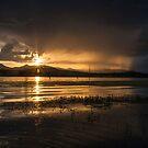 Dam Sunset by D Byrne