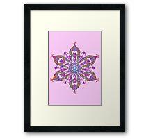 Floral Snow Framed Print