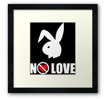 White No love Framed Print
