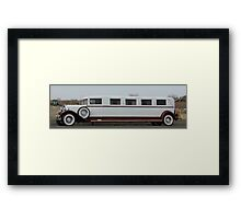 Old Limo Framed Print