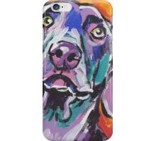 Weimaraner Dog Bright colorful pop dog art iPhone Case/Skin
