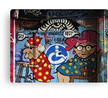 Grafitti Grannies Canvas Print