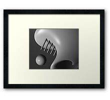 Face In The Crowd Framed Print