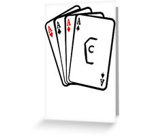 Coffin Squad Aces Greeting Card