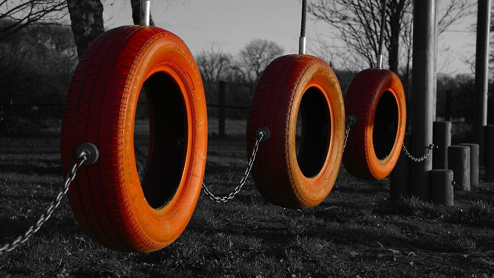 The Many Uses Of Tyres (B&W Edit) by Rob Page