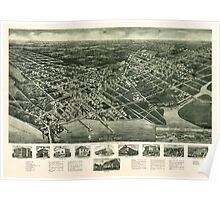 Panoramic Maps Aero-view of Somers-Point 1925 New Jersey Poster