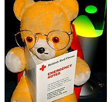 Fred Bear Wants to Learn First Aid Photographic Print