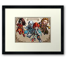 Tiny Fantasy Adventures: Core Party! Framed Print