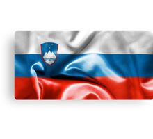 Slovenia Flag Canvas Print