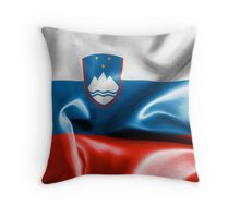 Slovenia Flag Throw Pillow