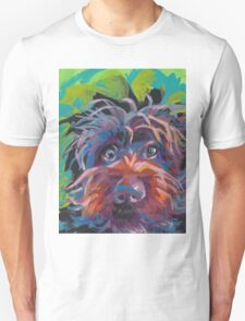 WireHaired Pointing Griffon Bright colorful pop dog art T-Shirt