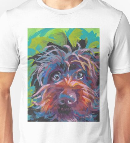 WireHaired Pointing Griffon Bright colorful pop dog art Unisex T-Shirt